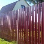 забор из евроштакетника для дачи