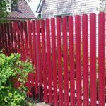забор из евроштакетника для дома