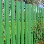 забор из евроштакетника металлический