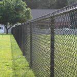 забор из сетки рабицы фото
