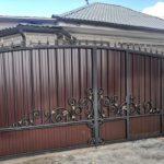 кованно распашные ворота