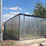построить гараж из профнастила