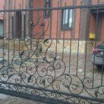 ворота кованные и калитка