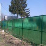 забор из поликарбоната зеленый