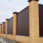 забор из профнастила для дома
