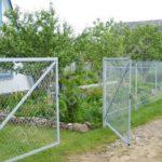 забор из сетки рабицы чертеж